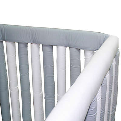 Go Mama Go® Designs Cotton Couture Teething Guards in Grey/White