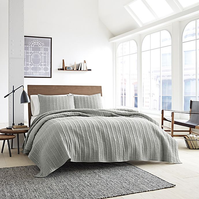 Alternate image 1 for Kenneth Cole Granite Coverlet in Neutral