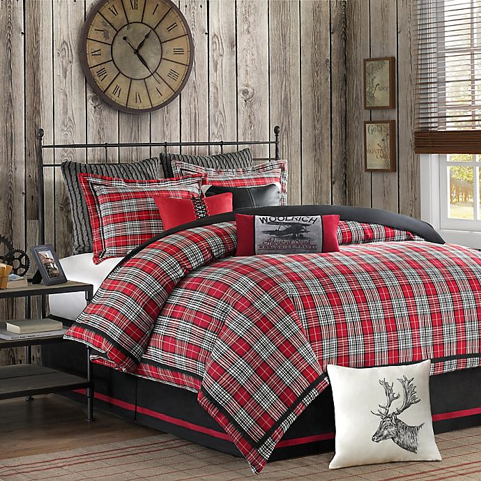 Woolrich Williamsport Comforter Set In Red Grey Bed Bath