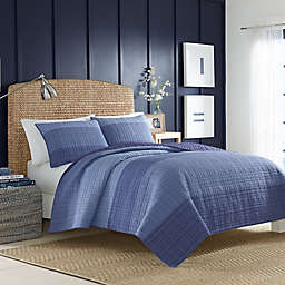 Nautica® Riverview Quilt in Dark Blue