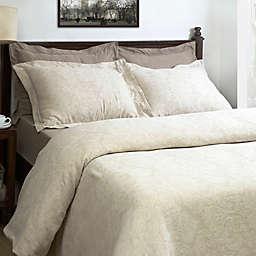 Maspar Berkley Jacquard Duvet Cover Set in Neutral