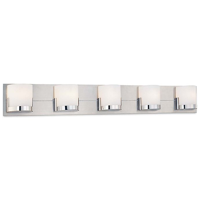 Convex Wall Mount Bathroom Bar Lighting Collection In Chrome