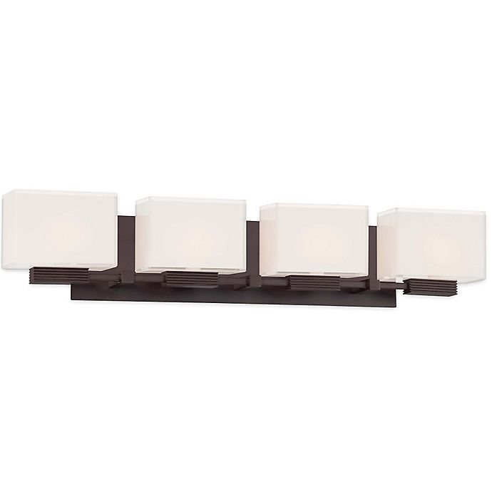 Cubism Bath Bar By George Kovacs: Buy George Kovacs® Cubism 3-Light Bath Bar With Dorian Bronze ™ Finish From Bed Bath & Beyond