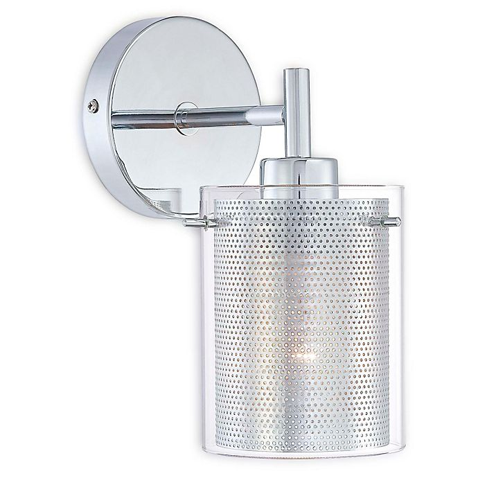 George Kovacs Grid Ii 1 Light Wall Sconce With Chrome Finish Bed