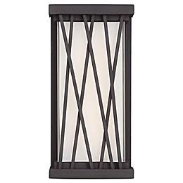 George Kovacs® Hedge 1-Light LED Outdoor Pocket Lantern in Dorian Bronze