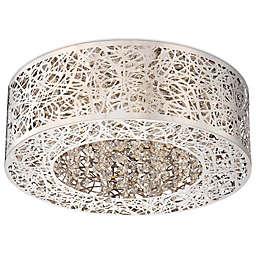 George Kovacs® Hidden Gems LED Flush Mount with Chrome Finish