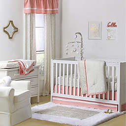 The Peanutshell™  Confetti 4-Piece Crib Set in Gold/Coral