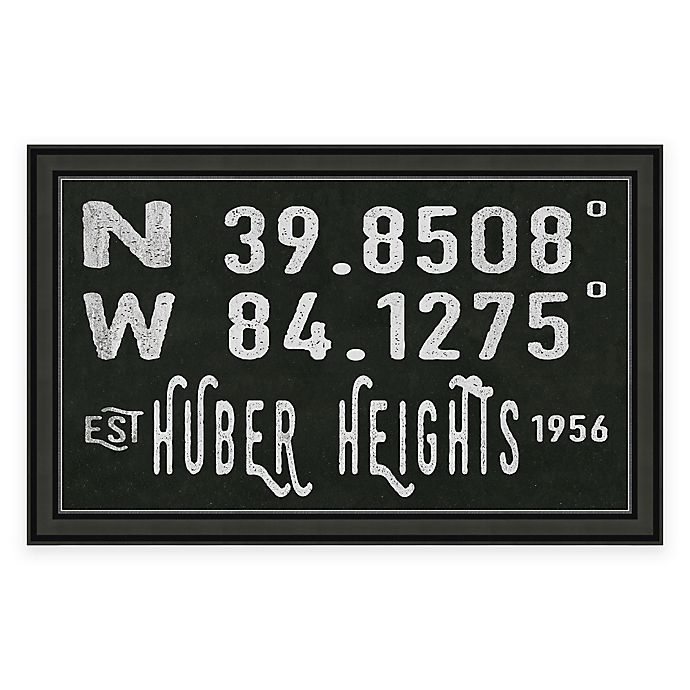 Alternate image 1 for Huber Heights Ohio Coordinates Framed Wall Art