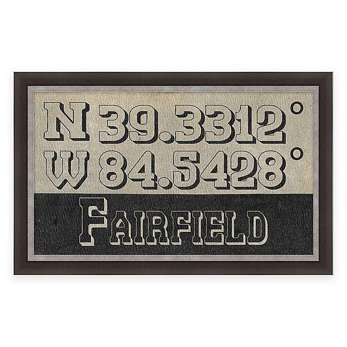Alternate image 1 for Fairfield Ohio Coordinates Framed Wall Art