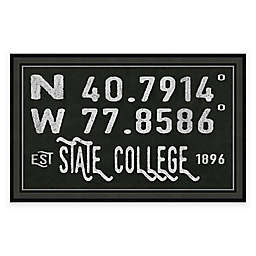 State College, Pennsylvania Coordinates Framed Wall Art