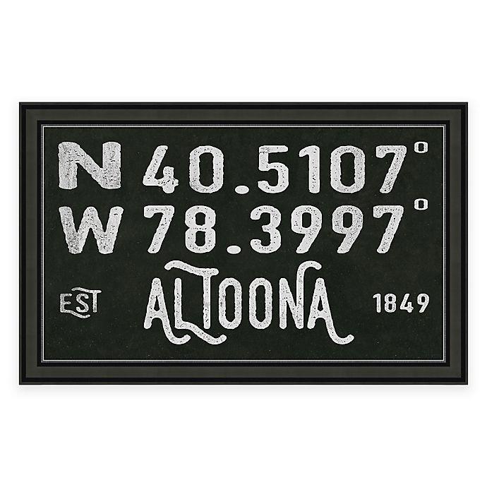 Alternate image 1 for Altoona, Pennsylvania Coordinates Framed Wall Art