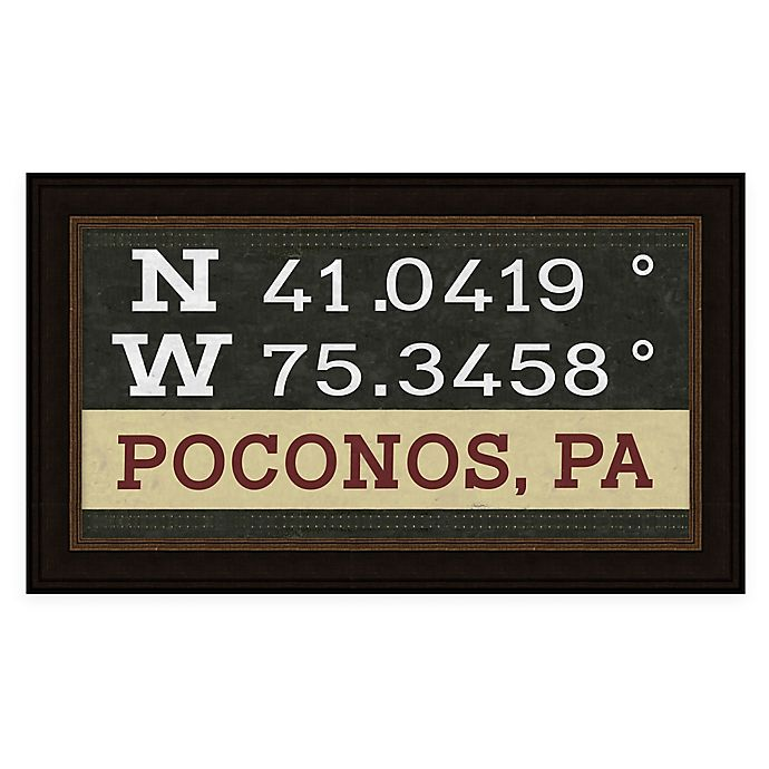 Alternate image 1 for Gettysburg, Pennsylvania Coordinates Framed Wall Art