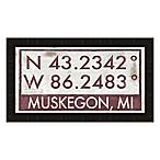 Muskegon, Michigan Coordinates Framed Wall Art