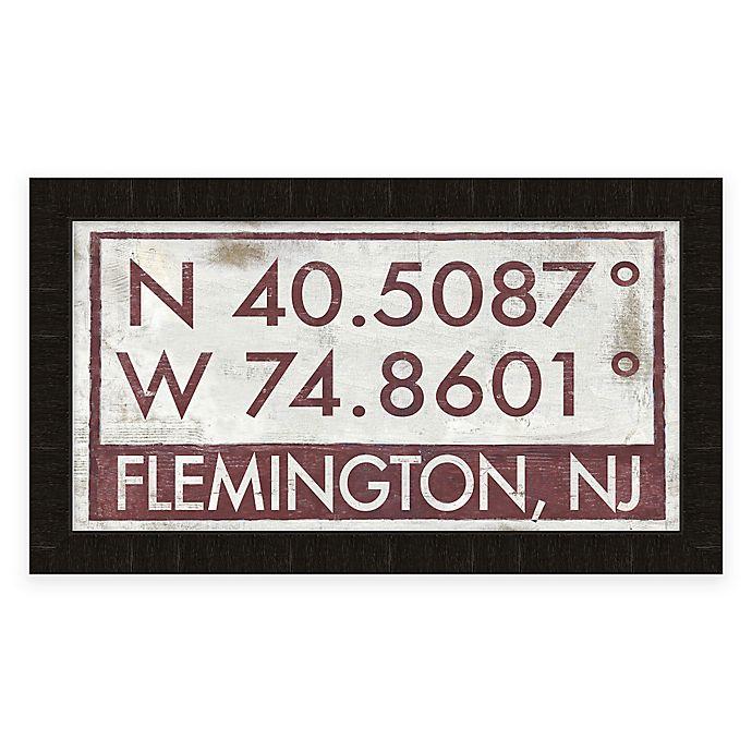 Alternate image 1 for Flemington, NJ, Coordinates Framed Wall Art