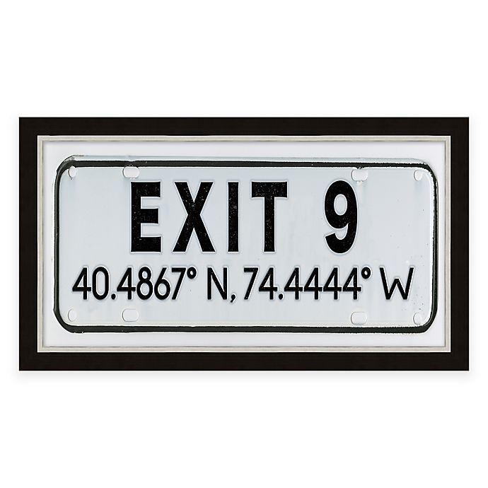 Alternate image 1 for Exit 9, NJ, Coordinates Framed Wall Art