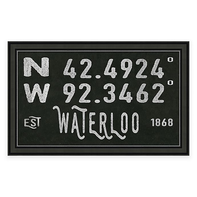 Alternate image 1 for Waterloo, IA, Coordinates Framed Wall Art