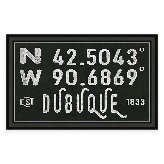 Alternate image 1 for Dubuque, IA, Coordinates Framed Wall Art