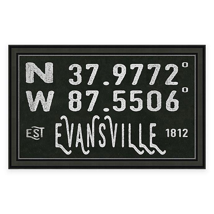 Alternate image 1 for Evansville Coordinates Framed Giclee Wall Art