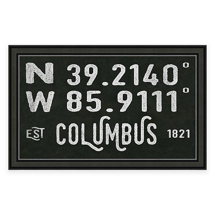 Alternate image 1 for Columbus Coordinates Framed Giclee Wall Art