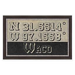 Waco, Texas Coordinates 28-Inch x 16-Inch Framed Wall Art