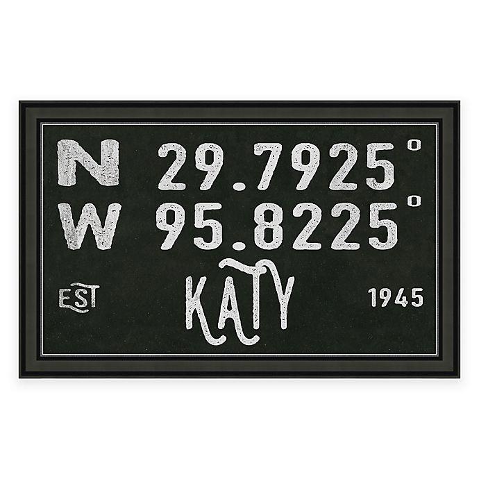 Alternate image 1 for Katy, Texas Coordinates Framed Wall Art