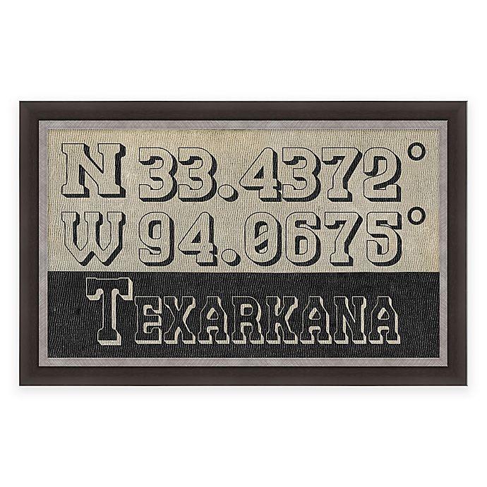 Alternate image 1 for Texarkana, Texas Coordinates Framed Wall Art