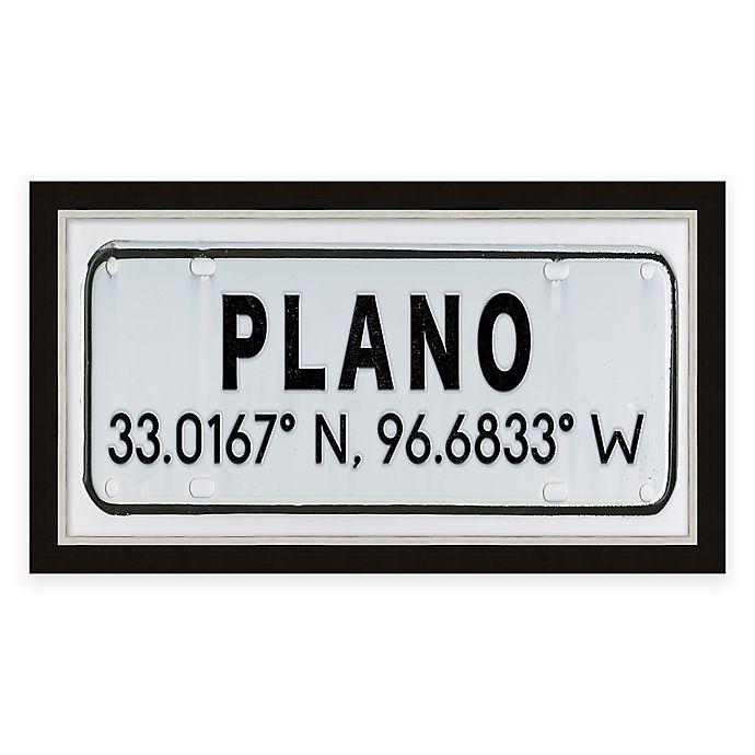 Buy Framed Giclée Plano, TX Coordinates Print Wall Art