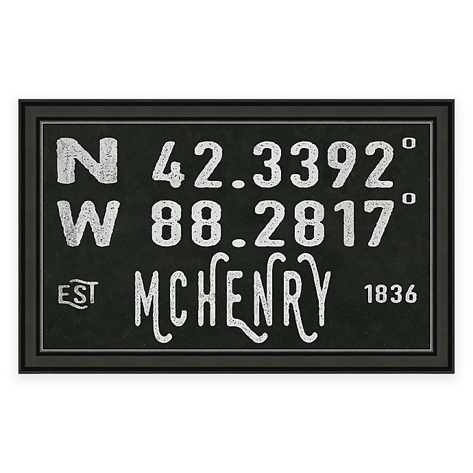 Mchenry Illinois Coordinates Framed Wall Art Bed Bath