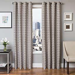 Softline Hallie Jacquard Grommet Top Window Curtain Panel (Single)