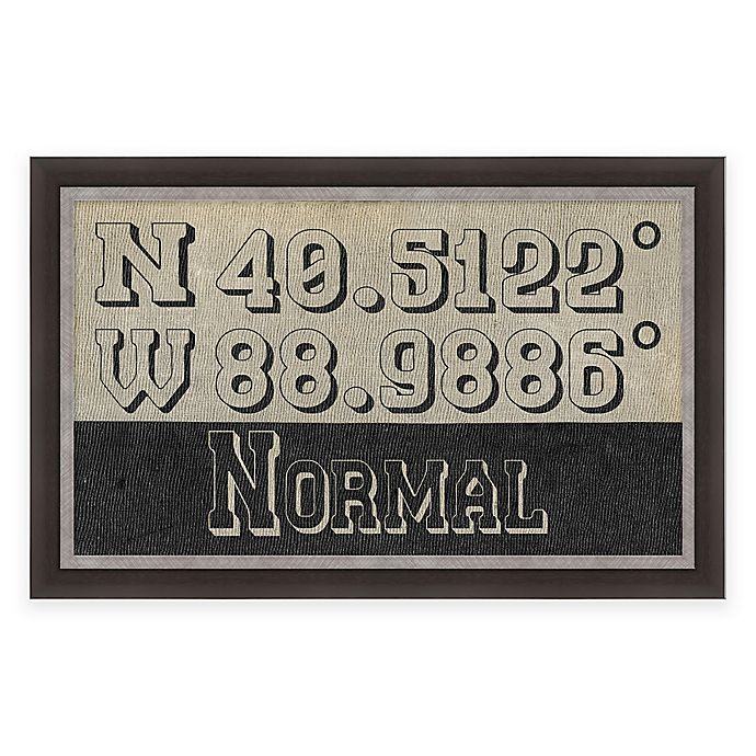 Alternate image 1 for Normal, Illinois Coordinates Framed Wall Art