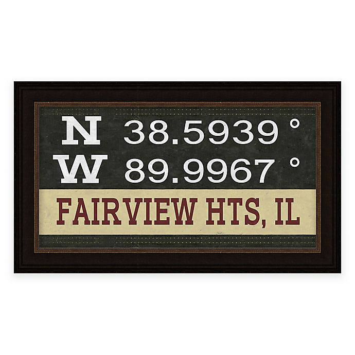 Home Decor In Fairview Heights Il: Buy Fairview, Illinois Coordinates Framed Wall Art From