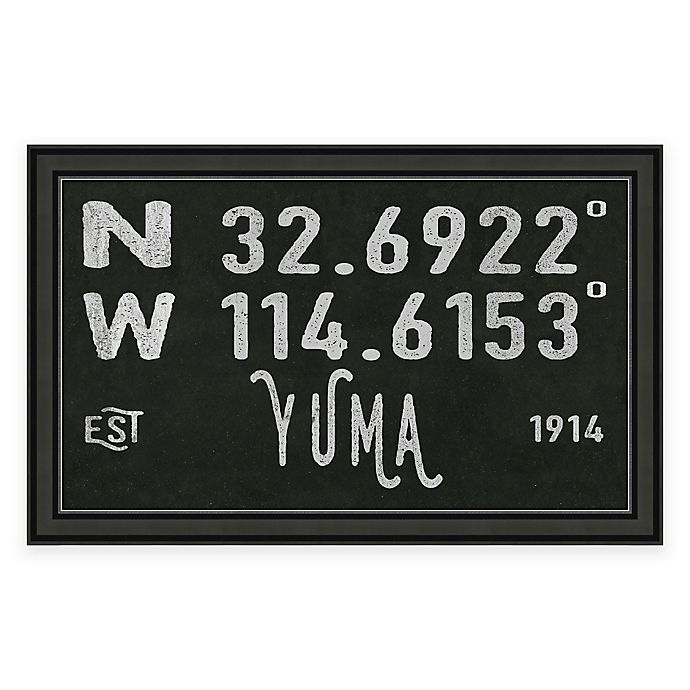 Alternate image 1 for Yuma Arizona Coordinates Framed Wall Art