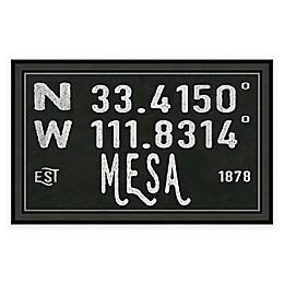 Mesa Arizona Coordinates Framed Wall Art