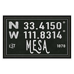 Mesa, Arizona Coordinates 27-Inch x 17-Inch Framed Wall Art