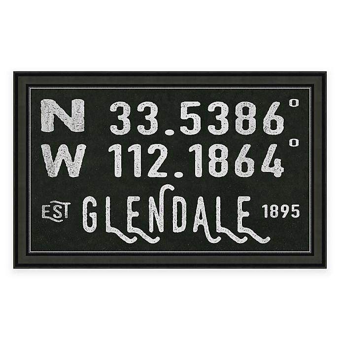 Alternate image 1 for Glendale Arizona Coordinates Framed Wall Art