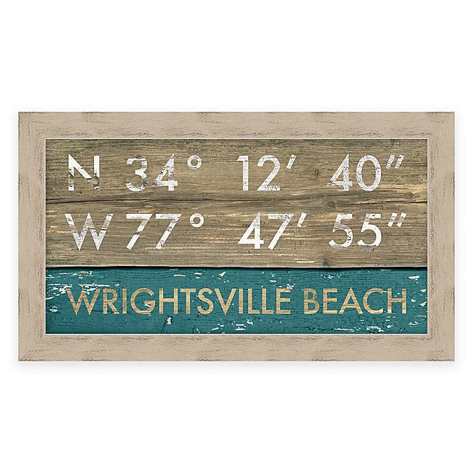 Alternate image 1 for Wrightsville Beach, NC, Coordinates Framed Wall Art