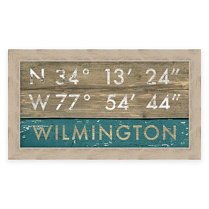 Alternate image 1 for Wilmington, NC, Coordinates Framed Wall Art