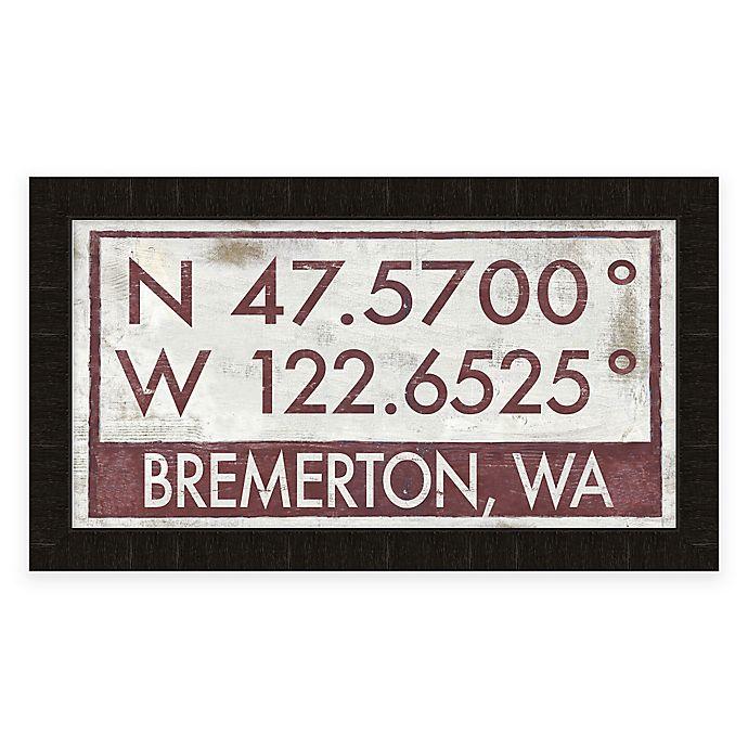 Alternate image 1 for Bremerton Coordinates Framed Giclée Wall Art