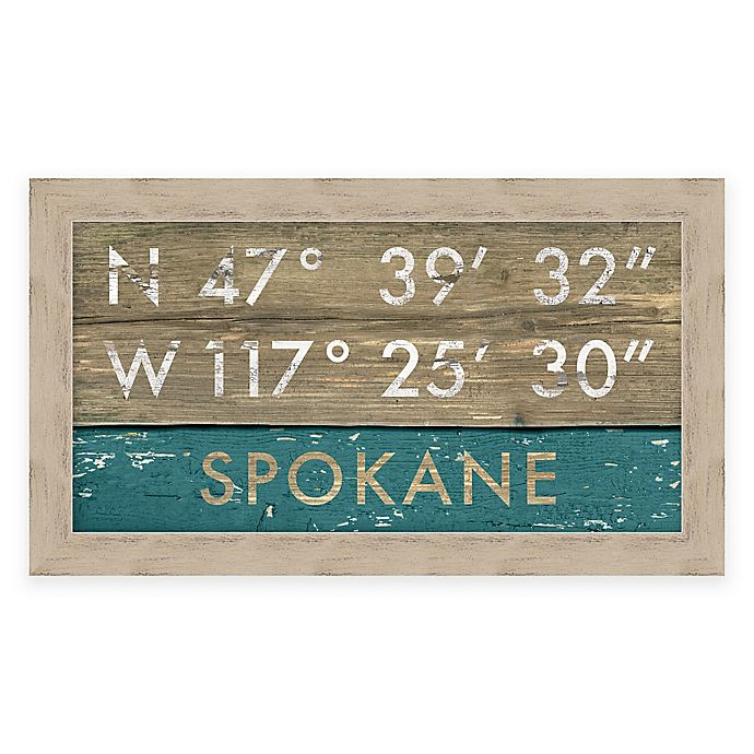 Alternate image 1 for Spokane Coordinates Framed Giclée Wall Art