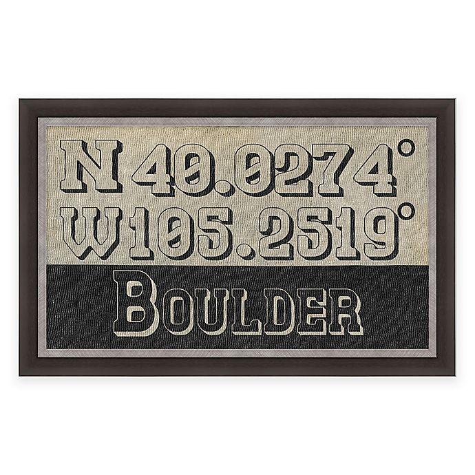 Alternate image 1 for Boulder Colorado Coordinates Framed Wall Art