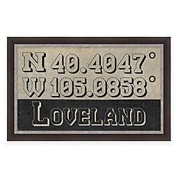 Loveland, Colorado Coordinates 28-Inch x 18-Inch Framed Wall Art