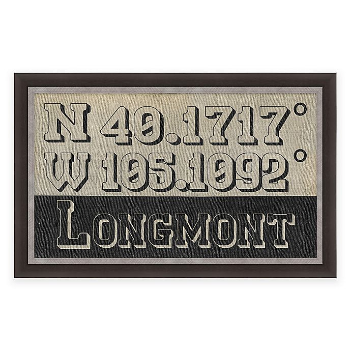 Alternate image 1 for Longmont Colorado Coordinates Framed Wall Art