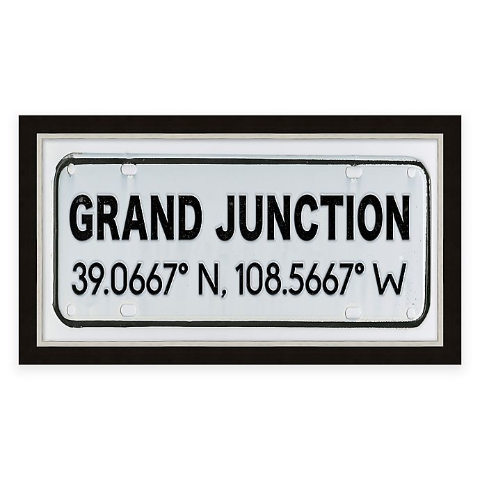 Alternate image 1 for Grand Junction Colorado Coordinates Framed Wall Art