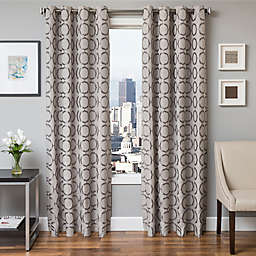 Softline Lander Jacquard Grommet Top Window Curtain Panel