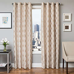 Softline Paloma Jacquard Grommet Top Window Curtain Panel (Single)