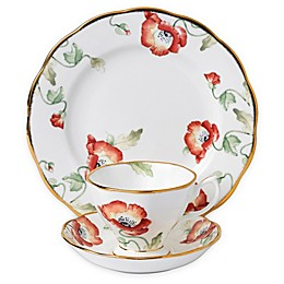 Royal Albert 100 Years 1970 Poppy 3-Piece Place Setting