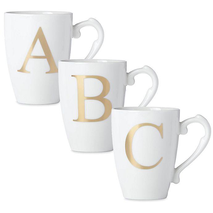 Alternate image 1 for Lenox® Initially Mine Monogrammed Mug in Gold
