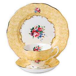Royal Albert 100 Years 1990 Bouquet 3-Piece Place Setting