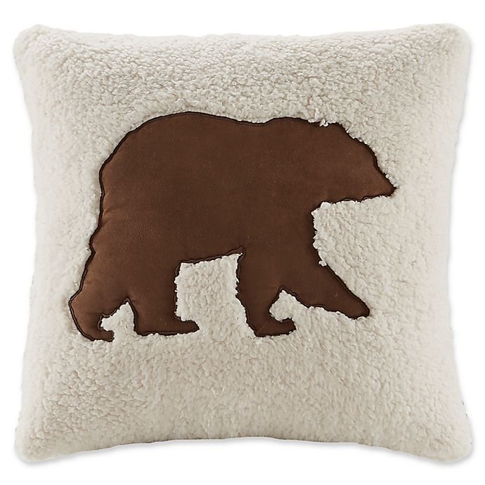 Alternate image 1 for Woolrich® Hadley Plaid Berber18-Inch Square Throw Pillow
