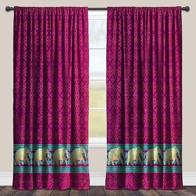 Alternate image 1 for Laural Home Marrakesh Room-Darkening Rod Pocket Window Curtain Panel in Purple